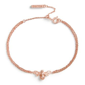 Olivia Burton Rose Gold Tone Sparkle Bee Bracelet - Product number 4538358