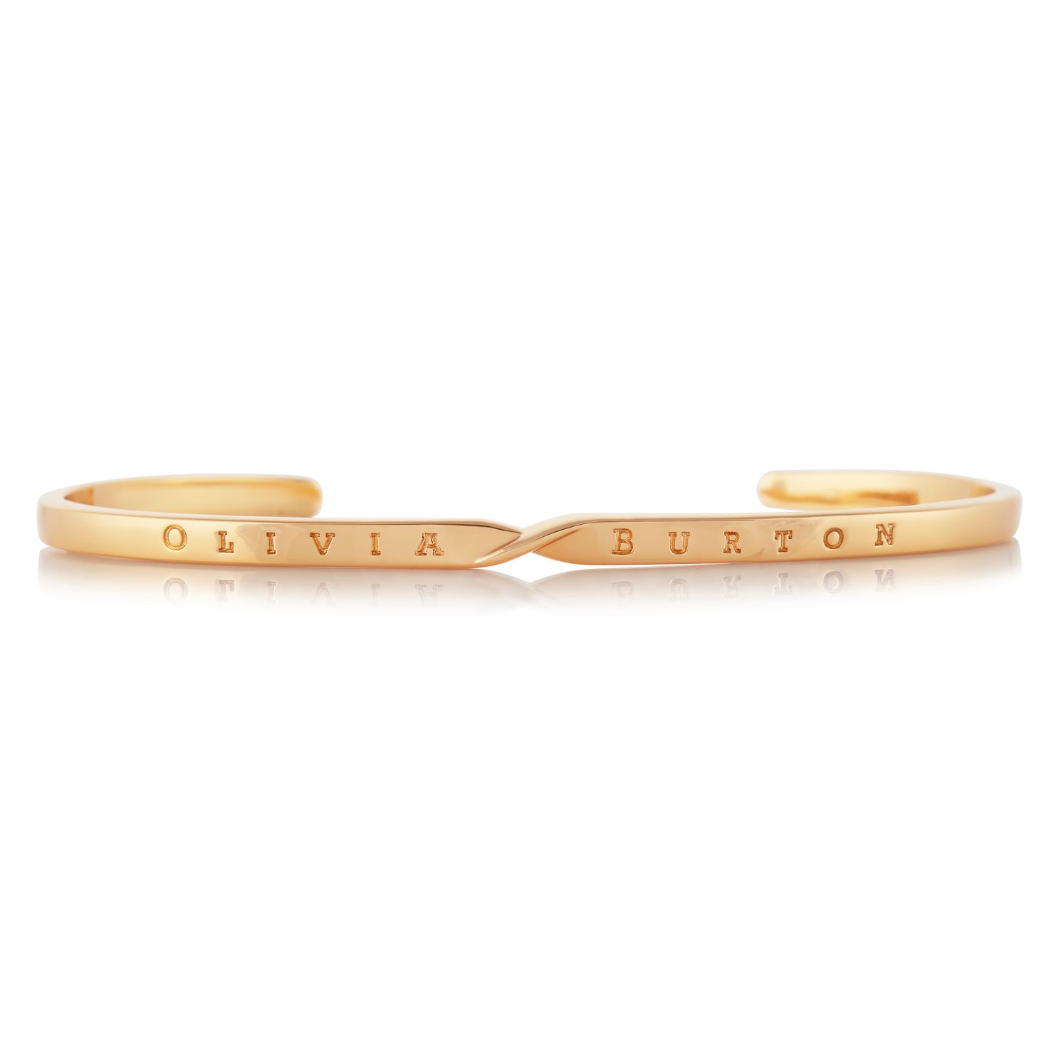 Olivia Burton Yellow Gold Tone The Classics Twist Bangle - Product number 4538501