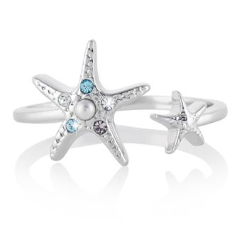 Olivia Burton Rhodium Plated Starfish Ring - Product number 4538595