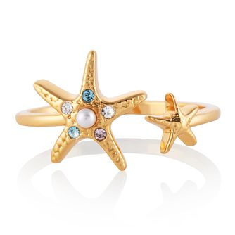 Olivia Burton Yellow Gold Tone Starfish Ring - Product number 4538609
