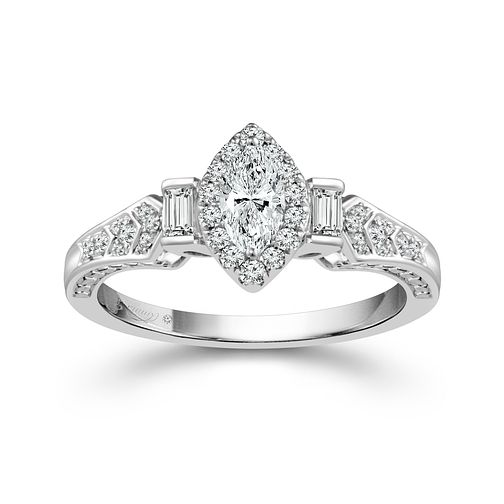Emmy London 18ct White Gold 1/2 Carat Diamond Solitaire Ring - Product number 4539516