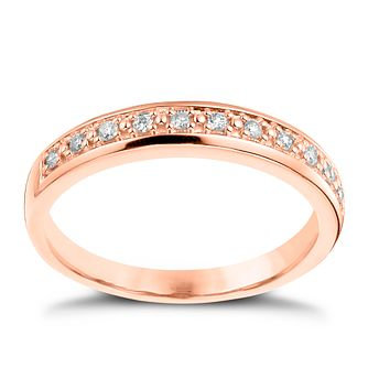 9ct Rose Gold 1/10ct Diamond Eternity Ring - Product number 4541022