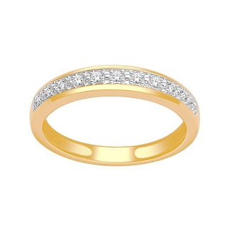 18ct Yellow Gold 1/10ct Diamond Pave Ring - Product number 4543505