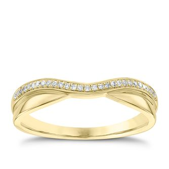 18ct Yellow Gold Diamond Wave Ring - Product number 4543963