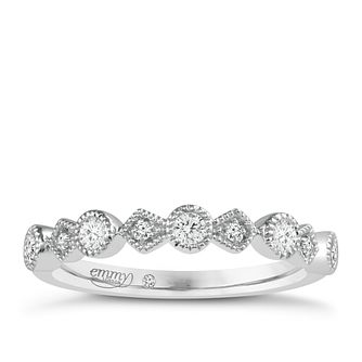 Emmy London Palladium 0.15ct Diamond Ring - Product number 4544692