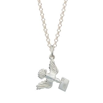 Lily Charmed Silver Bird With Envelope Necklace - Product number 4546857