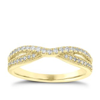 18ct Yellow Gold 1/4ct Diamond Crossover Ring - Product number 4548221