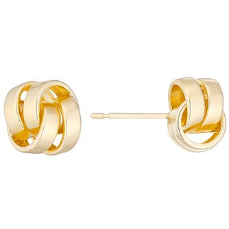 9ct Double Strand Knot Stud Earrings - Product number 4548531