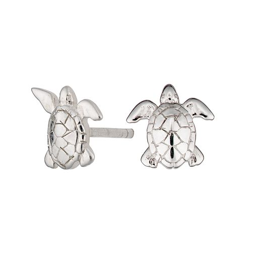 Lily Charmed Silver Live As You Dream Turtle Stud Earrings - Product number 4548779