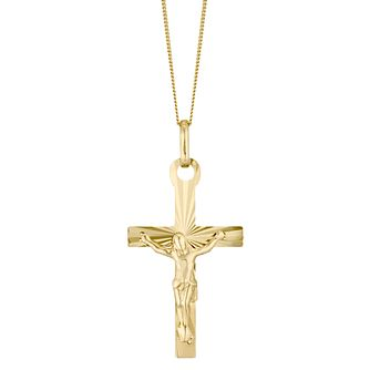 9ct Yellow Gold Crucifix Pendant - Product number 4548965