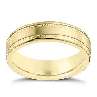 9ct Yellow Gold and Cobalt 6mm Wedding Ring - Product number 4552083