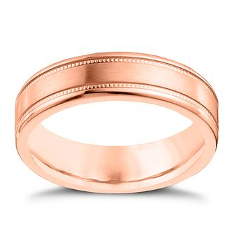 9ct Rose Gold and Cobalt 6mm Wedding Ring - Product number 4552407