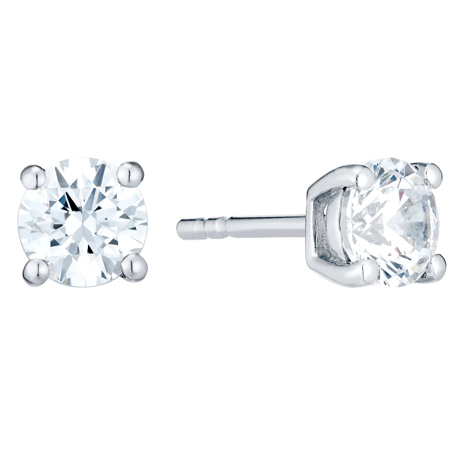 Sterling Silver Cubic Zirconia Stud Earrings - Product number 4552466