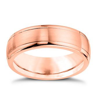 9ct Rose Gold And Cobalt 7mm Wedding Ring - Product number 4553454