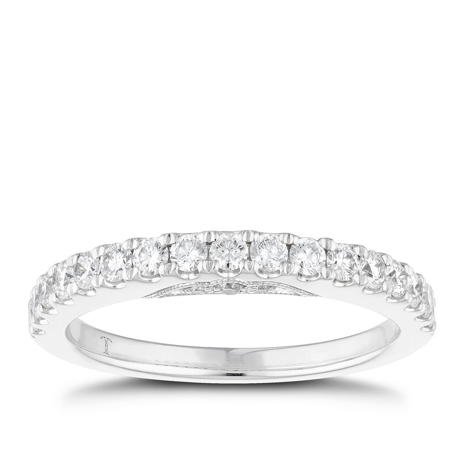 Tolkowsky 18ct White Gold 1/2ct Diamond Wedding Band - Product number 4554590
