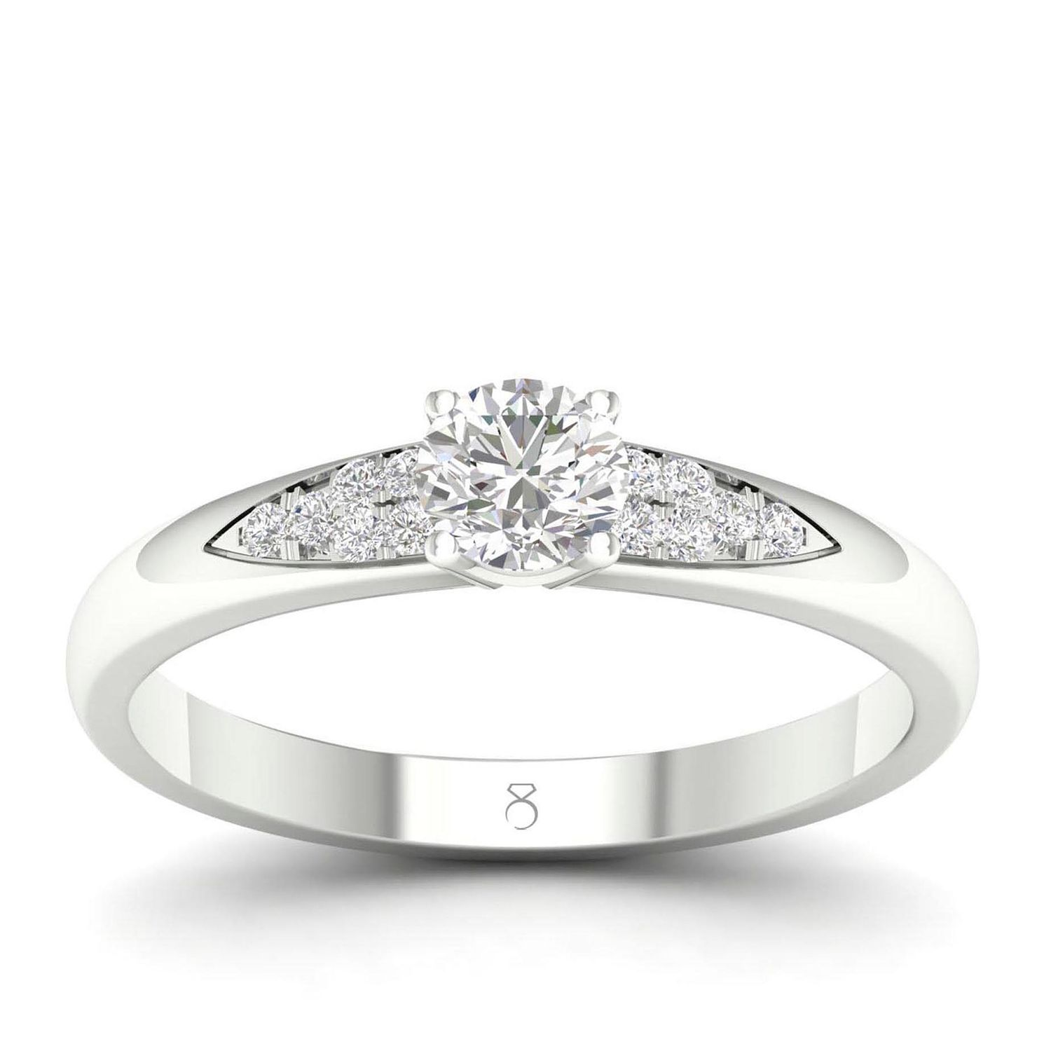 The Diamond Story 18ct White Gold 0.30ct Total Diamond Ring - Product number 4561643