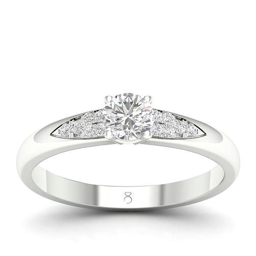 The Diamond Story 18ct White Gold 0.30ct Diamond Ring - Product number 4561643