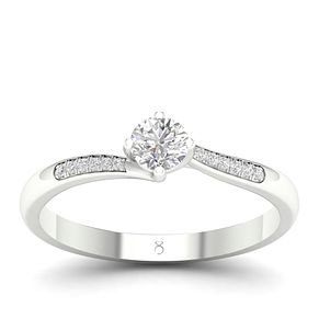 The Diamond Story 18ct White Gold 0.30ct Diamond Ring - Product number 4562895