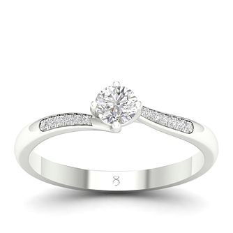 The Diamond Story 18ct White Gold 0.30ct Total Diamond Ring - Product number 4562895