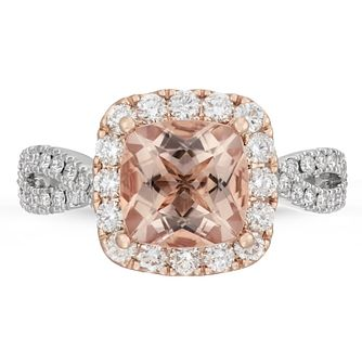 Neil Lane 14ct Rose Gold 0.80ct Diamond Morganite Ring - Product number 4566319