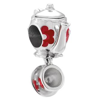 Chamilia Mad Teapot Sterling Silver & Red Enamel Charm Bead - Product number 4566912