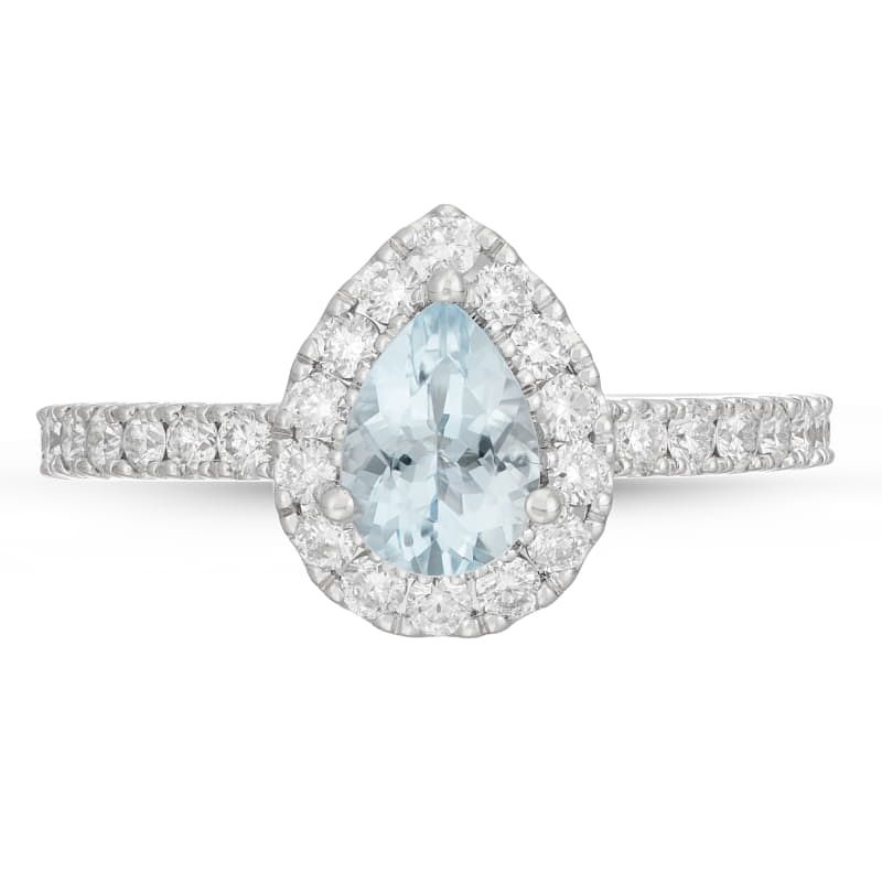 Neil Lane 14ct White Gold 0.58ct Diamond Aquamarine Ring - Product number 4567579