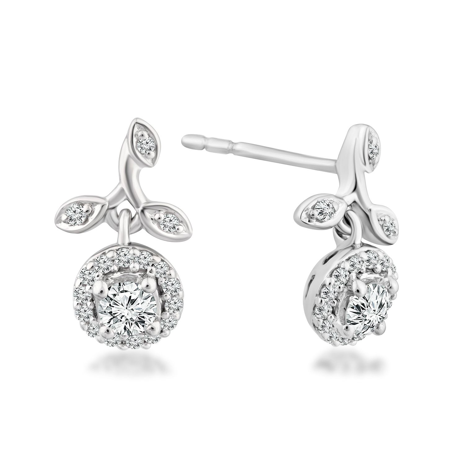 Emmy London 9ct White Gold 1/4ct Diamond Drop Earrings - Product number 4570006
