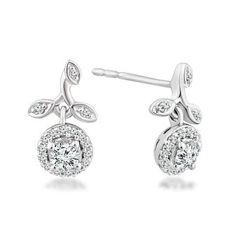 Emmy London 9ct White Gold 0.25ct Total Diamond Earrings - Product number 4570006