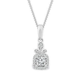 Emmy London 9ct White Gold 1/5ct Diamond Pendant - Product number 4570286