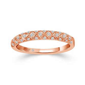Emmy London 18ct Rose Gold 0.12ct Diamond Eternity Ring - Product number 4571193