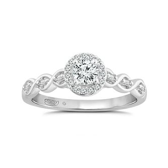 Emmy London 18ct White Gold 1/3ct Diamond Twist Ring - Product number 4571800