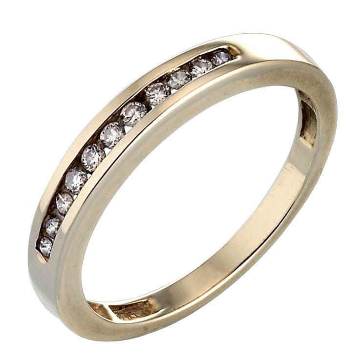 9ct Gold 0 15 Carat Diamond Eternity Ring