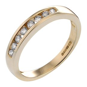 9ct Gold Quarter Carat Diamond Eternity Ring - Product number 4572130