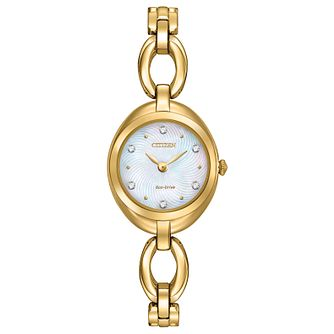 Citizen Eco-Drive Ladies' Gold-Plated Bracelet Watch - Product number 4574257