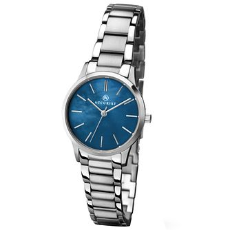 Accurist Ladies' Blue Dial Stainless Steel Bracelet Watch - Product number 4575164