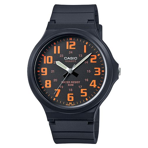 Casio Men's Black & Orange Dial Black Resin Strap Watch - Product number 4575431