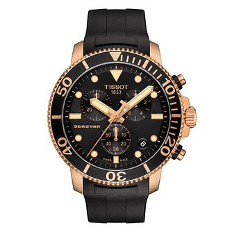 Tissot Seastar 1000 Men's Black Rubber Strap Watch - Product number 4577108
