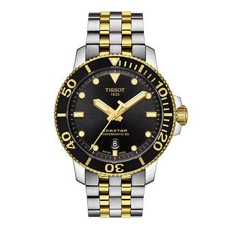 Tissot Seastar 1000 Automatic Men's Two Tone Bracelet Watch - Product number 4577183