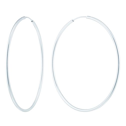 Sterling Silver 46mm Plain Hoop Earrings - Product number 4577663