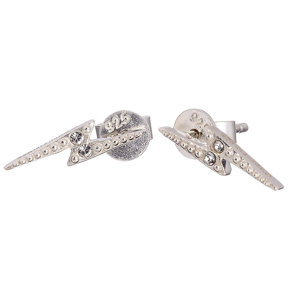 Harry Potter Silver Swarovski Crystal Lightning Earrings - Product number 4577973