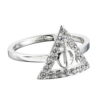 Harry Potter Silver Swarovski Crystal Deathly Hallows J Ring - Product number 4578015
