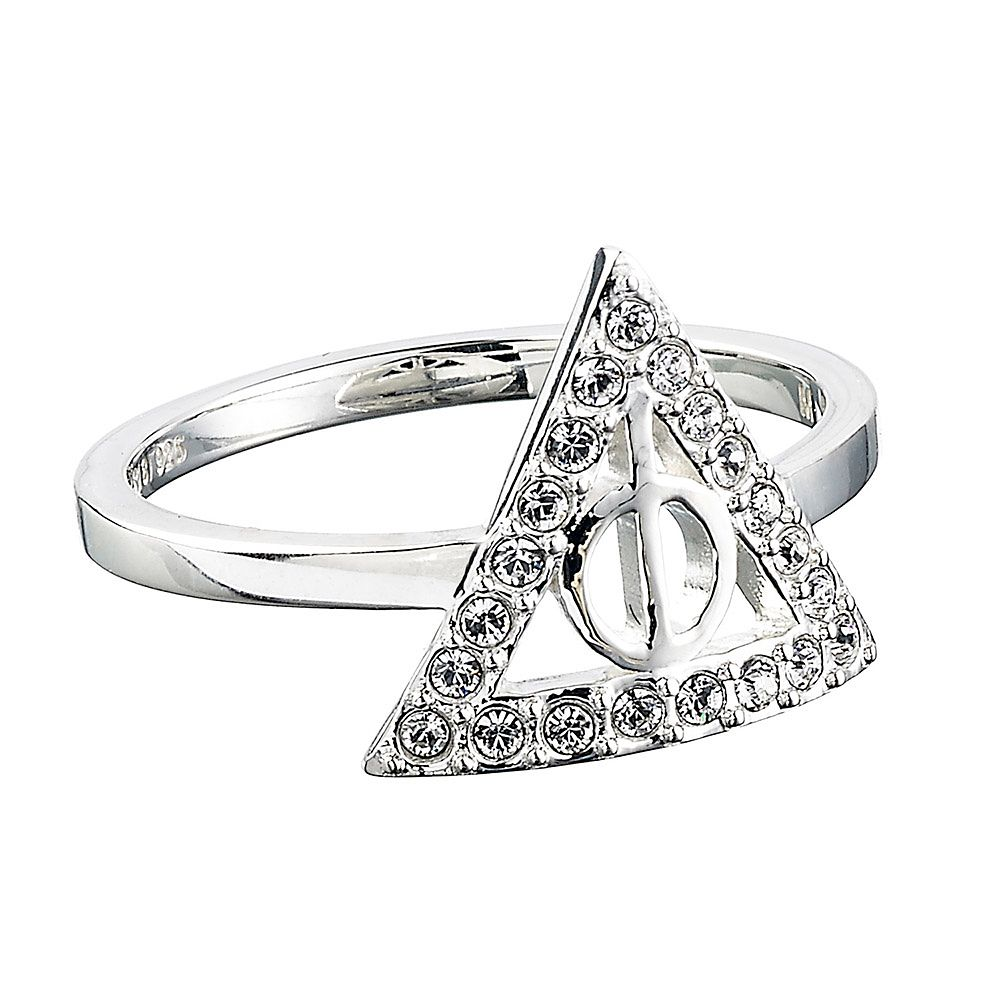 Harry Potter Silver Swarovski Crystal Deathly Hallows M Ring - Product number 4578104