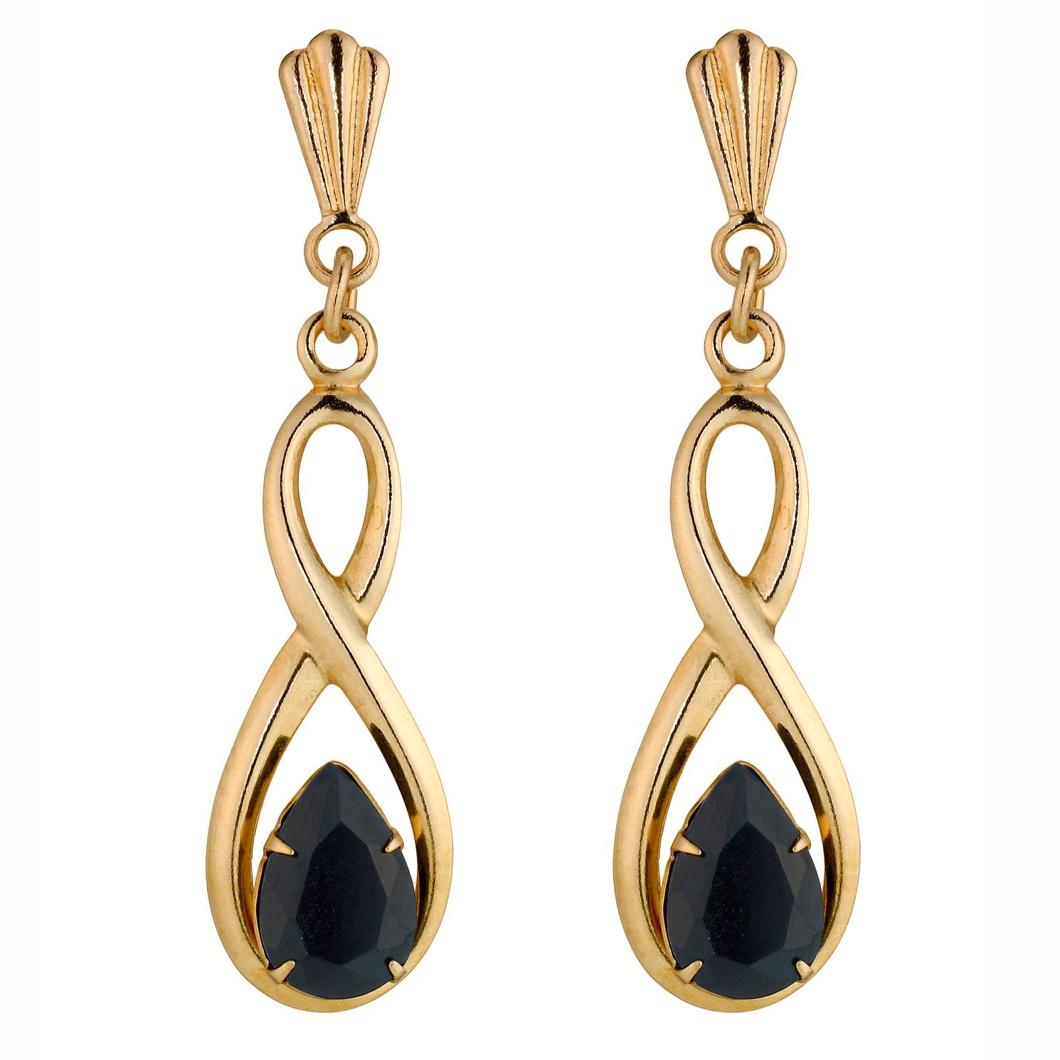 9ct Gold Sapphire Drop Earrings - Product number 4579194