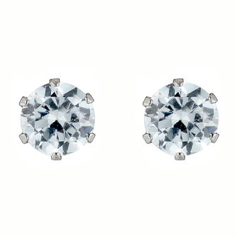 9ct White Gold Cubic Zirconia 4mm Stud Earrings - Product number 4579232