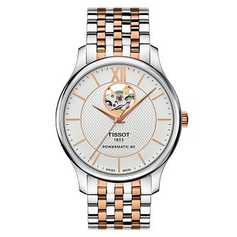 Tissot Tradition Automatic Open Heart Men's Two Tone Watch - Product number 4579259