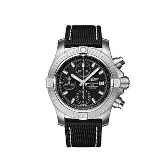 Breitling Avenger Men's Black Leather Strap Watch - Product number 4579607