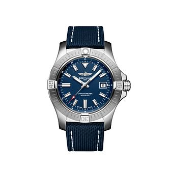 Breitling Avenger Men's Blue Leather Strap Watch - Product number 4579798