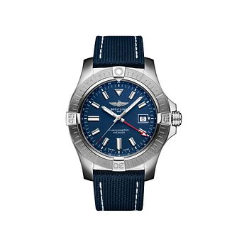 Breitling Avenger Automatic GMT 45 Men's Strap Watch - Product number 4579968