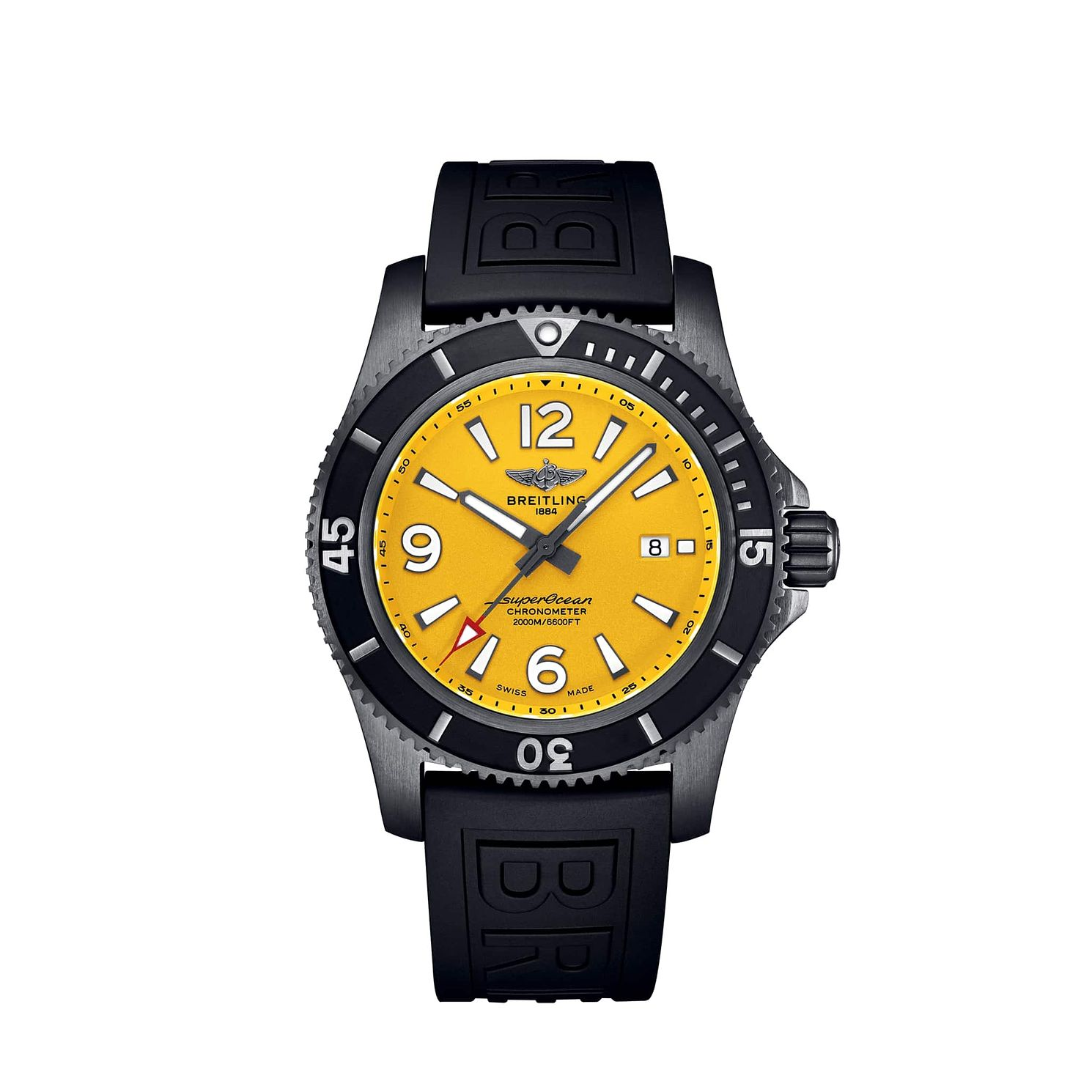 Breitling Superocean Automatic 46 Men's Rubber Strap Watch - Product number 4579992
