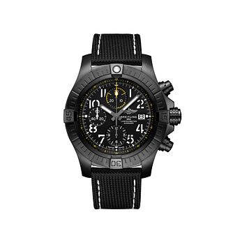 Brietling Avenger 45 Night Mission Men's Black Strap Watch - Product number 4580044